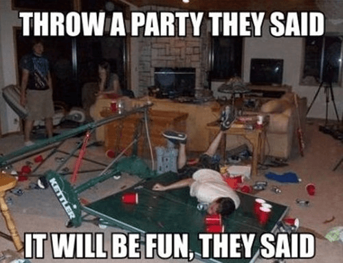 Throwing a House Party