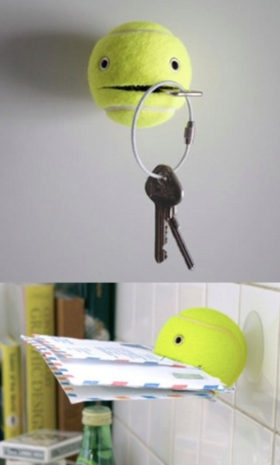 tennis ball holder student life hack