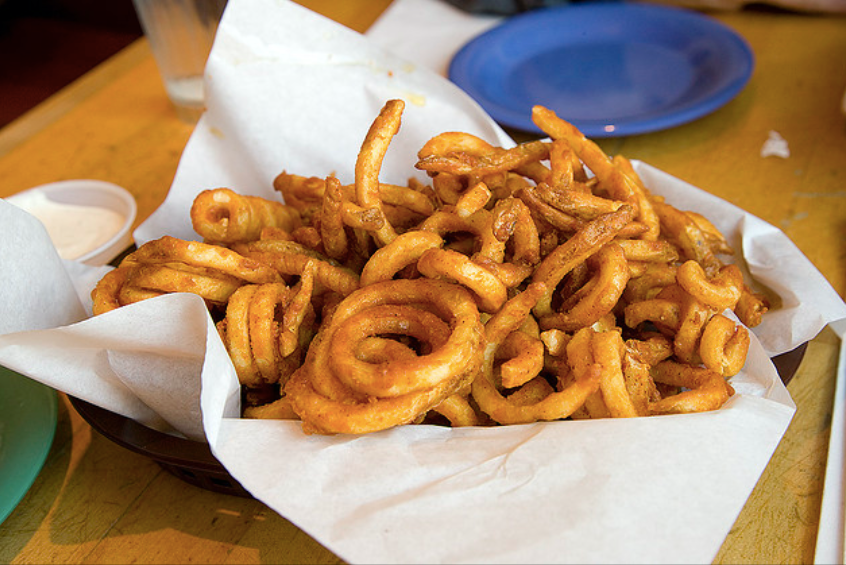 curly fries at the Exeter RAM