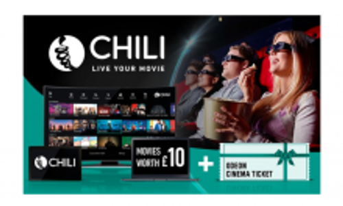 £10 Chili Movie Credit + Odeon Cinema Ticket For £4.79