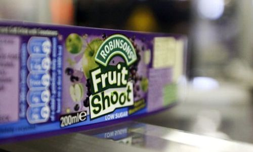 Close up of a box of Fruit Shoot.